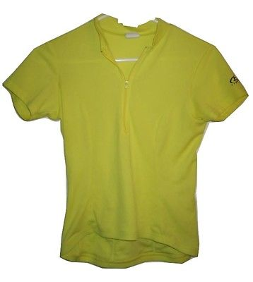 Danskin Design by Canari Yellow Bike Bicycle Cycling Jersey womens S Small
