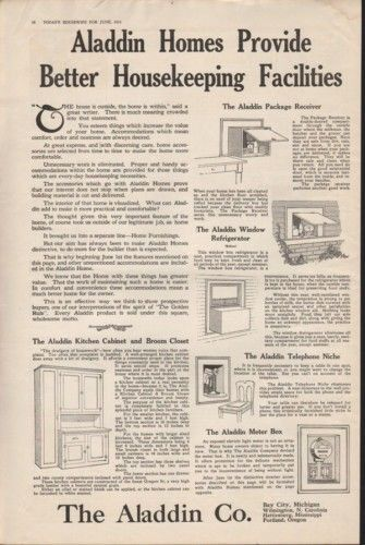 1921 ALADDIN HOUSEKEEPING KITCHEN CABINET HOME DECOR AD-[SKU]
