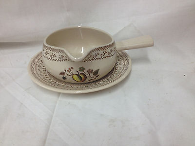 Johnsons Bros Staffordshire Old Granite Fruit Sampler Gravy Ladle - England