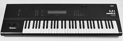 Korg M1 61 Key Workstation Keyboard w/ case & Brand New Battery Just Installed !