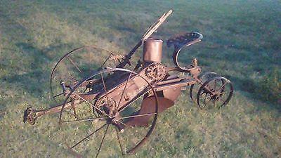 ANTIQUE PRIMITIVE 1800'S FARMING HORSE-DRAWN PLOW FARM IMPLEMENT CORN PLANTER