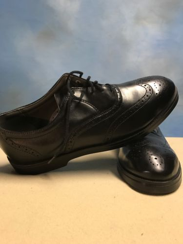 Red Wing Shoes WingTip Oxfords Black Leather Steel Toe USA Made Men's 10.5B 8701