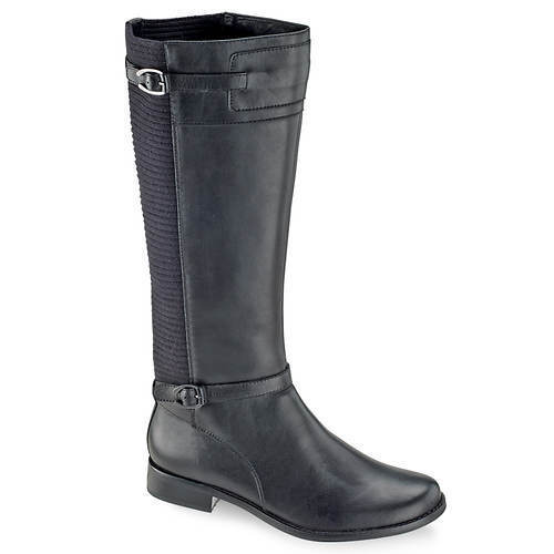 Chelsea Riding Boot - BLACK - AETREX - WIDE CALF BOOT