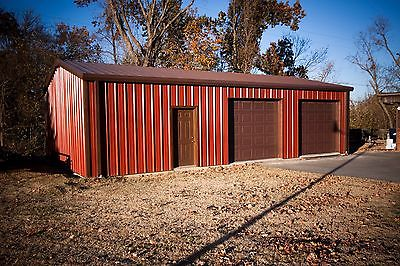 24'x30'x9' Steel Garage Building Kit.