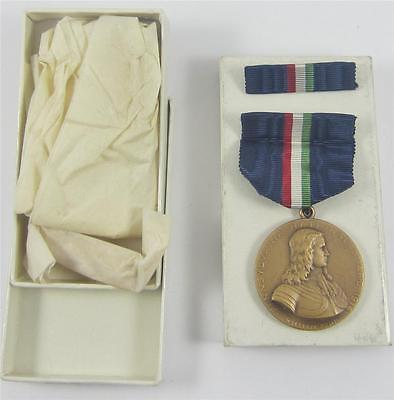 Vintage WWI Pennsylvania National Guard Mexican Border Medal & Ribbon Box #15221