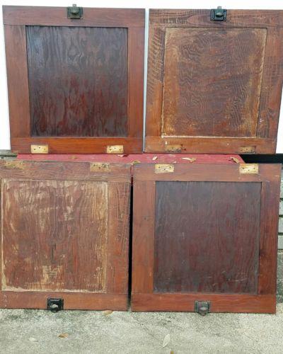 Antique Pantry Cupboard Doors Original Finish circa 1910 some original hardware