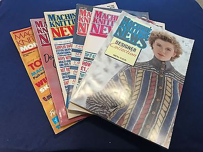 17/7 6 KNITTING MACHINE PATTERN MAGAZINES MACHINE KNITTING NEWS MONTHLY 88-91