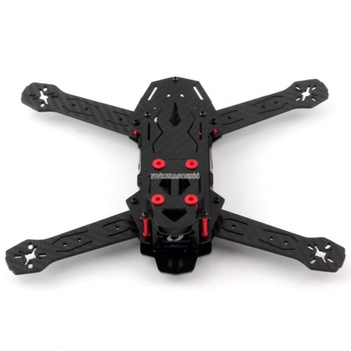 Black OCDAY-250PRO (Bat Soldiers) Axis Carbon Fiber Chassis MINI H250 US