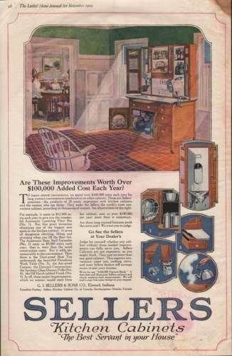 1920 SELLER KITCHEN CABINET FURNITURE ELWOOD HOME DECOR-[SKU]