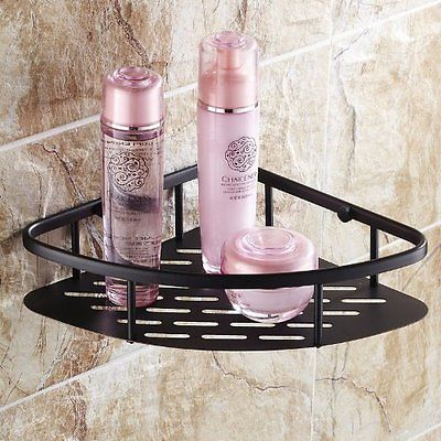 Oil Rubbed Bronze Wall Mount Corner Holder Bathroom Shower Storage Caddy Shelf