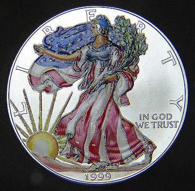 American Silver Eagle Dollar 1999 Colorised