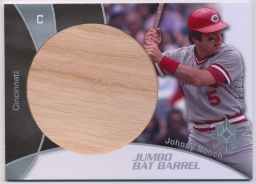 Johnny Bench 2009 Ultimate Collection Jumbo Bat Barrel 2/5 Reds