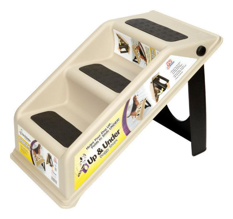 Up & Under Doggy Dog Steps - Stairs - Folds Up & Tuck It Away - NEW - Cat or Dog