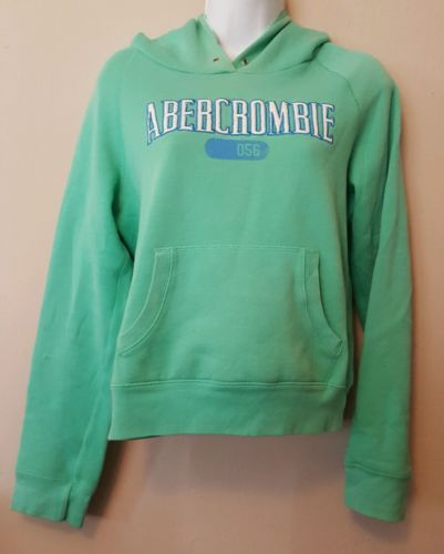 Abercrombie and Fitch Green Pullover Hoodie Sweater Shirt X LARGE Womens Juniors