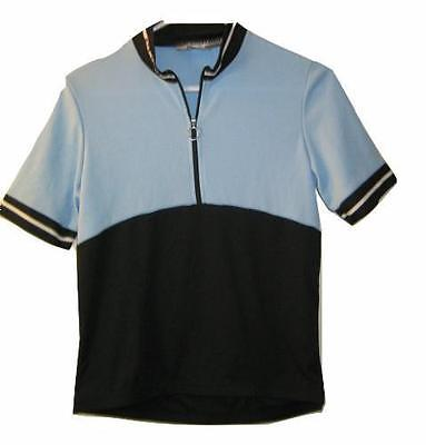 NICE Sugoi Baby Blue Cycle Cycling Mountain short sleeve Bike Jersey Womens S