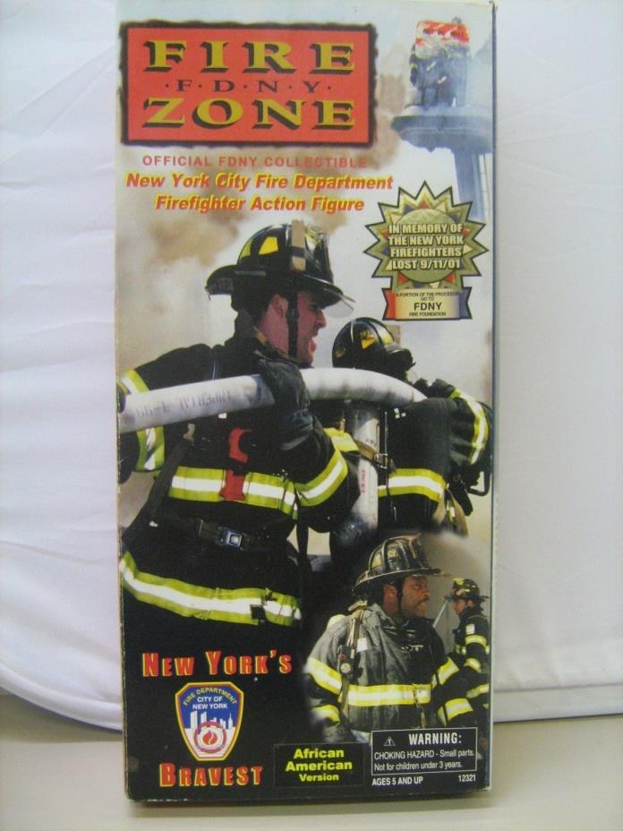 Fire Zone FDNY Firefighter Action Figure African American NYC Real Hero NRFB