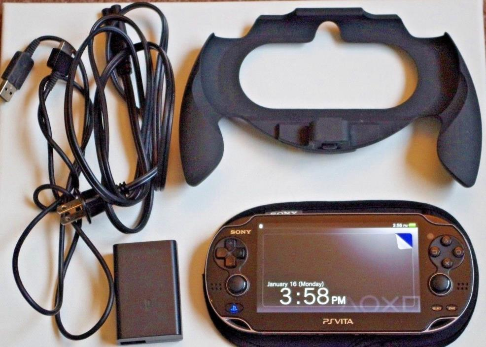Sony PlayStation Vita Console PCH-1001 - WiFi - TESTED, GOOD COND w/ extras OLED