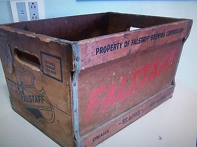 Vintage Falstaff beer wooden crate