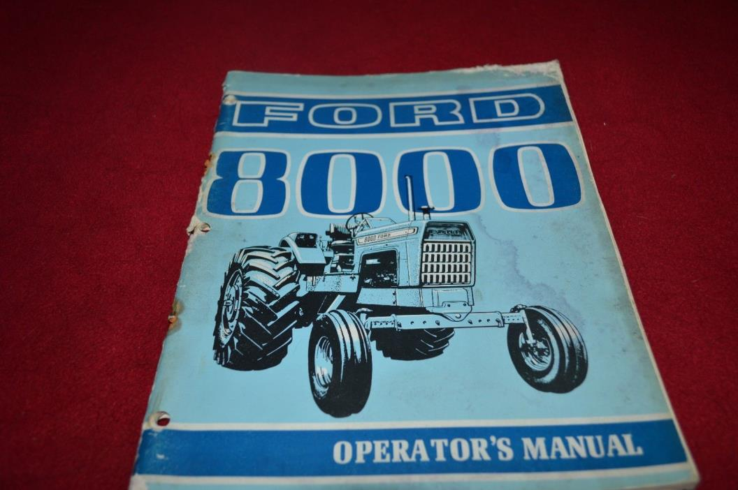 Ford 8000 Tractor Operator's Manual YABE11