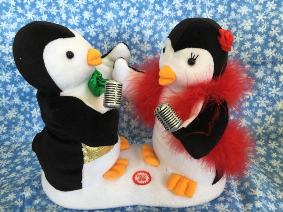 Avon 2007 Animated Christmas Singing Penguin Couple