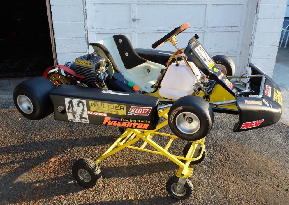 RARE Vintage 1999 Fullerton (Lion) Kart Racer Woltjer Engine Racing Go Cart