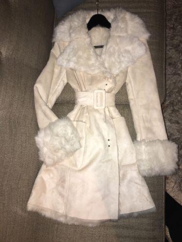 Armani Exchange Women's Ivory Long Coat