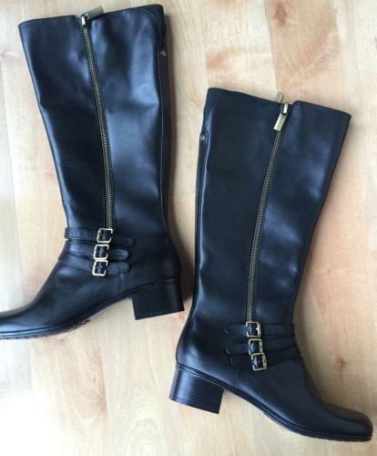 Bandolino Tall Boots - Wide Calf - Black - Size 9.5 M - New