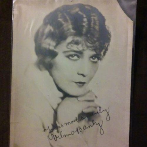 Vintage photo card Vilma Banky