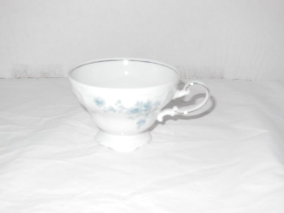 Johann Haviland Bavarian China Footed Coffee/Tea Cup - Blue Garland Pattern