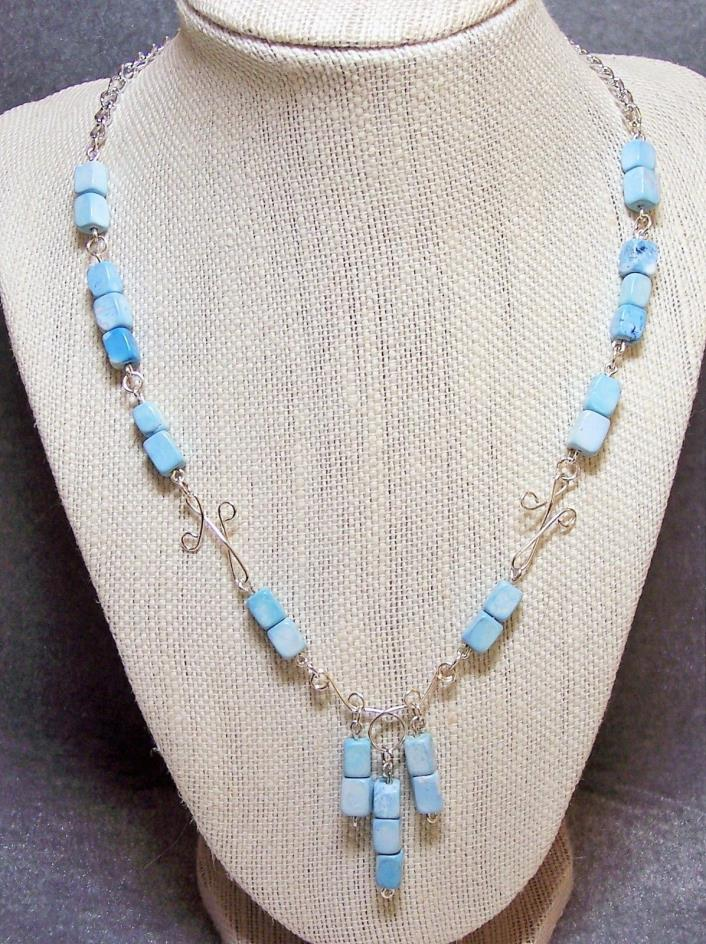 TMD TURQUOISE BEAD NECKLACE & EARRINGS