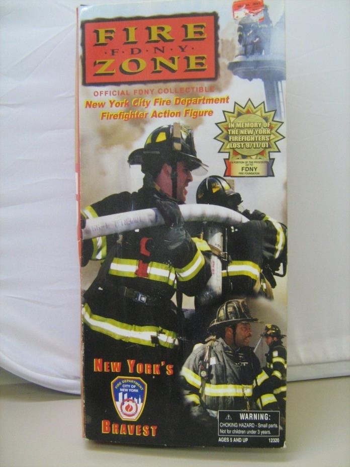 Fire Zone FDNY Firefighter Action Figure Doll New York Real Heroes NRFB