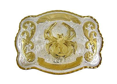 Black Widow Spider Western Rodeo Style Belt Buckle