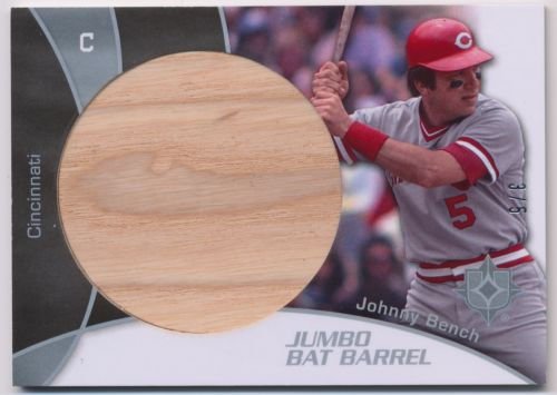 Johnny Bench 2009 Ultimate Collection Jumbo Bat Barrel 3/5 Reds