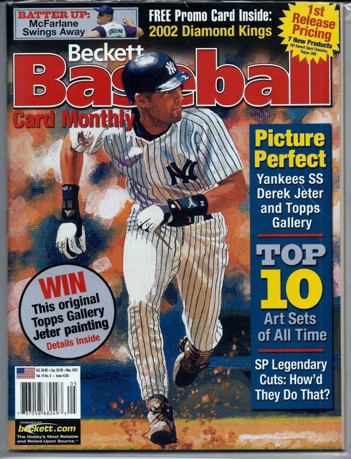 Beckett Baseball Card Monthly Issue #206 Derek Jeter May 2002