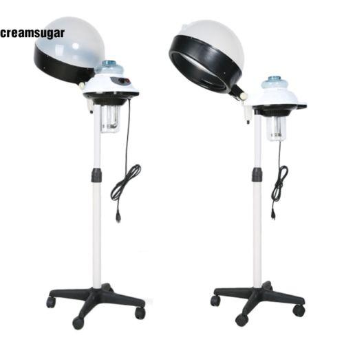 Height Adjust Salon Hair Steamer Rolling Stand Swivel Hood Color Processor CESU