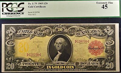 Fr. 1179 1905 $20 Gold Certificate PCGS 45