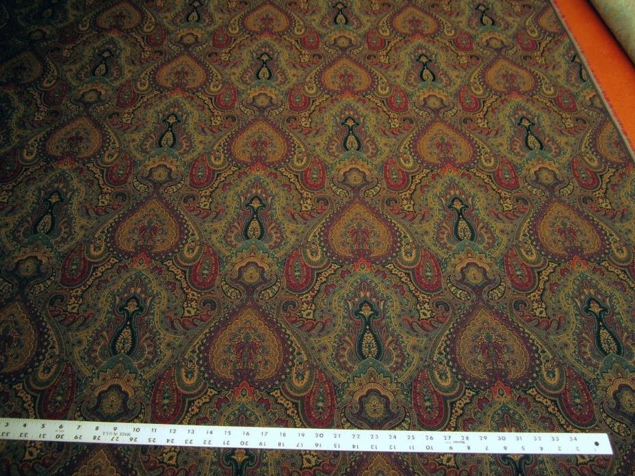 3 3/8 yards of Robert Allen Full Paisley night sky upholstery fabric r2274