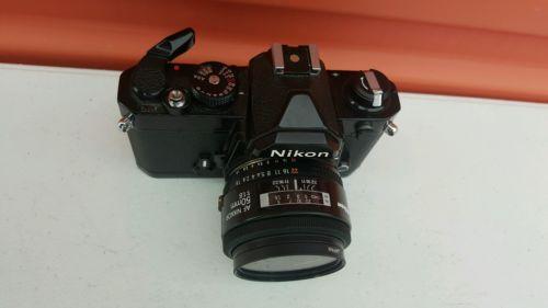 Nikon FM Camera with AF- Nikkor  50mm f/1.8 Lens