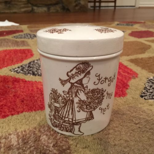 Vintage Ceramic STRING HOLDER Royal Crownford Staffordshire England ForgetMeNots
