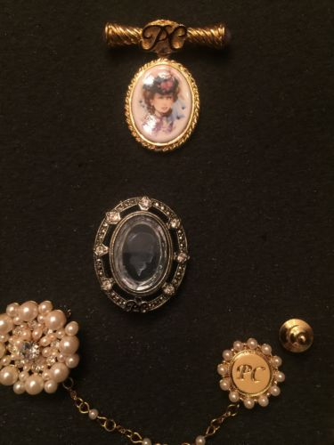 Vintage set of 3 AVON Presidents Club Award Pins - 96/97 --- 98/99 ---99/2000