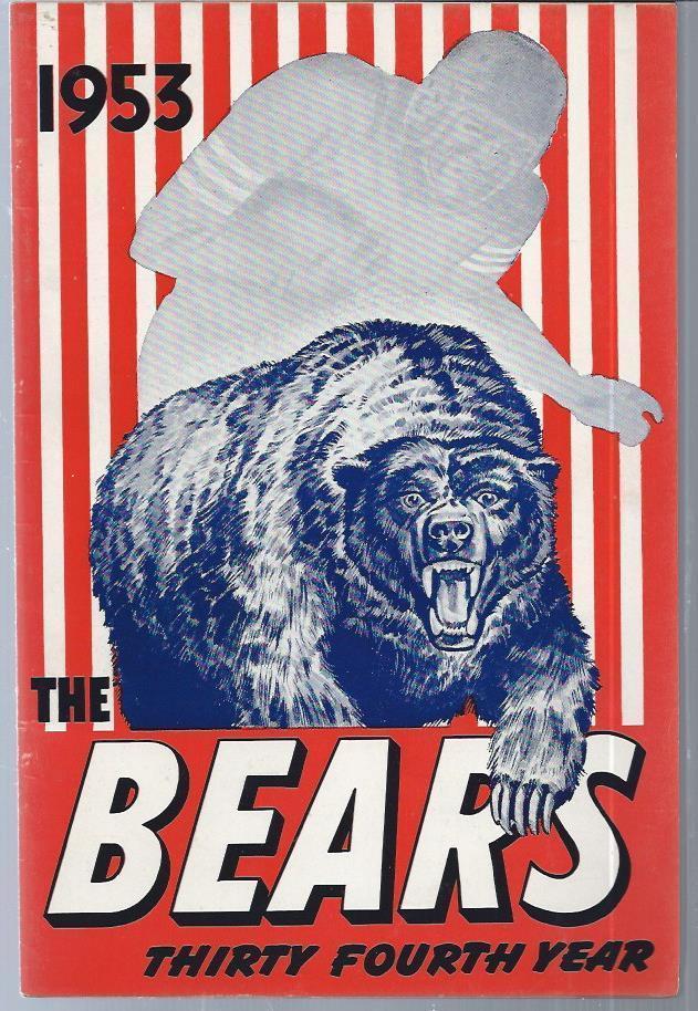 1953 Chicago Bears Football Media Guide