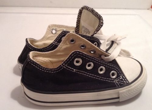 Converse All Star Chuck Taylor Toddler/infant Boys Road Trip BlackShoes Size 6