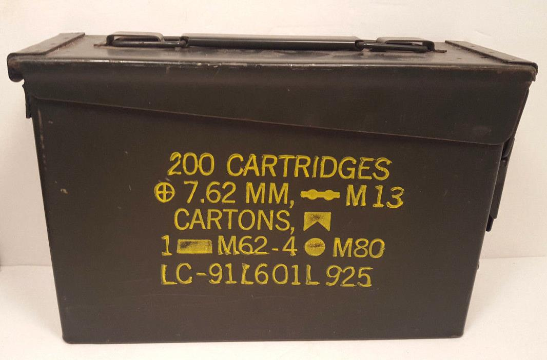 Military Metal Ammo Box 7.62mm Rounds