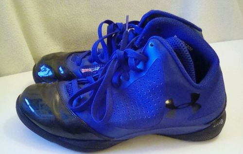 Mens Under Armour UA Micro G Supersonic Basketball Sneaker Shoes Blue size 9