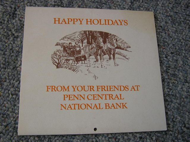 Vintage 1981 Penn Central Calendar Great Photos of Mt Union 1000 Steps EBT