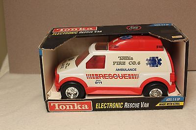 VINTAGE TONKA ELECTRONIC RESCUE VAN FIRE DEPARTMENT  EMERGENCY VEHICLE 1992