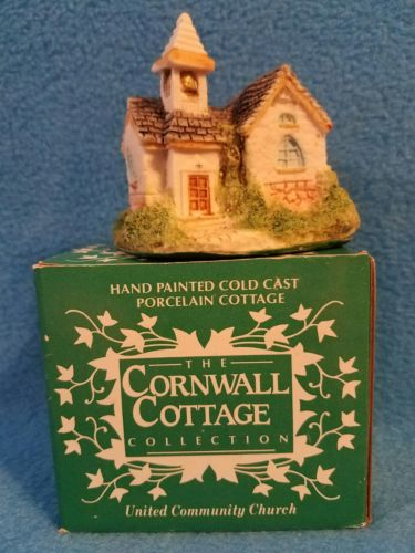 VINTAGE  mini Cornwall Cottage Collection - United Community Church #BHo7