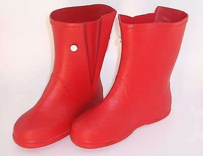 Rain Boots Waterproof Red Rubber Big Kids USA SIZE 5 1/2 Ages 7-12 Years