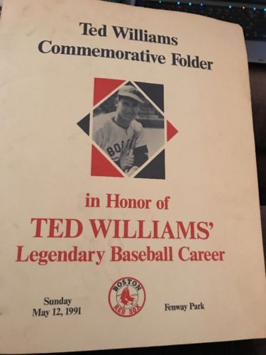 Ted Williams Commemorative Folder