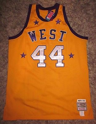 JERRY WEST All Star Jersey NBA Logo LA  Lakers MVP